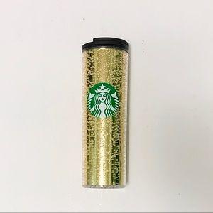 Starbucks air bubble gold closed tumbler
